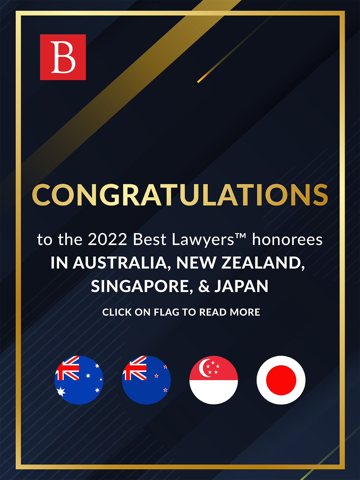 Congratulations to our 2022 Best Lawyers International Honorees