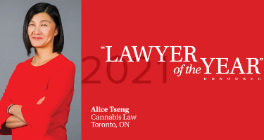 Featured Article Alice Tseng - Toronto 2021 Lawyer of the Year