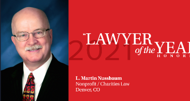 Featured Article L. Martin Nussbaum - Denver 2021 Lawyer of the Year