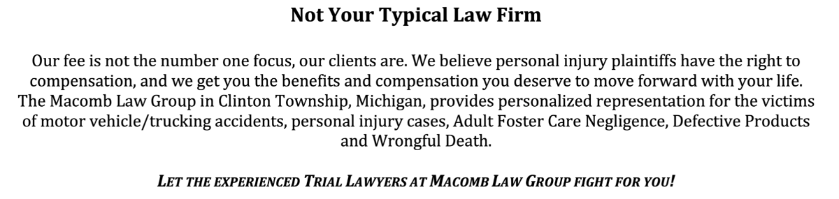 Header Image for Macomb Law Group