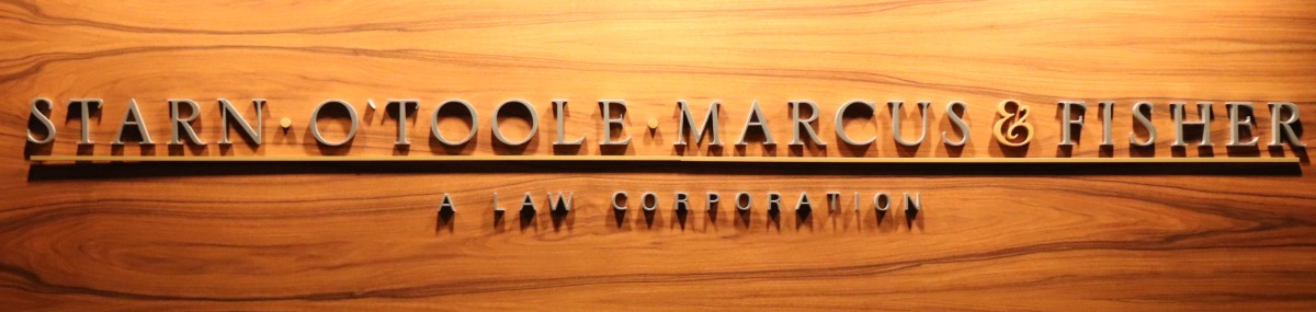 Header Image for Starn O'Toole Marcus & Fisher, A Law Corporation