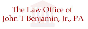 The Law Office of John T. Benjamin, Jr. PA + ' logo'