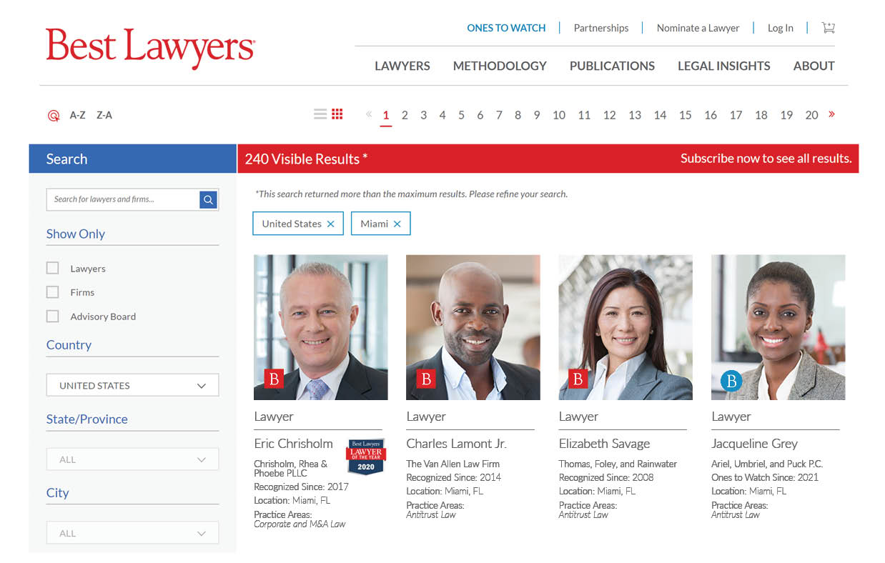 Best Lawyers Search Results