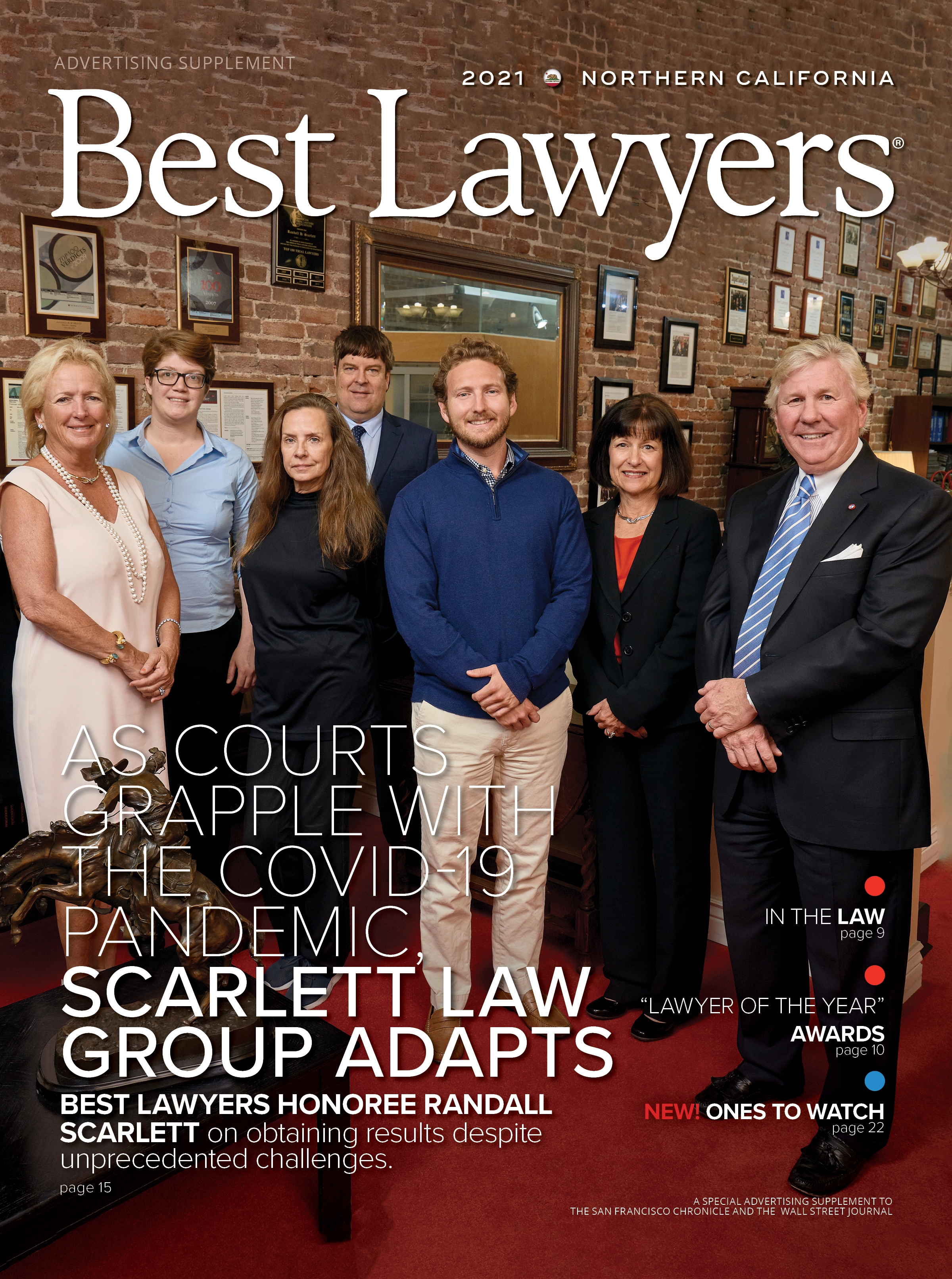 2021 Northern California's Best Lawyers cover