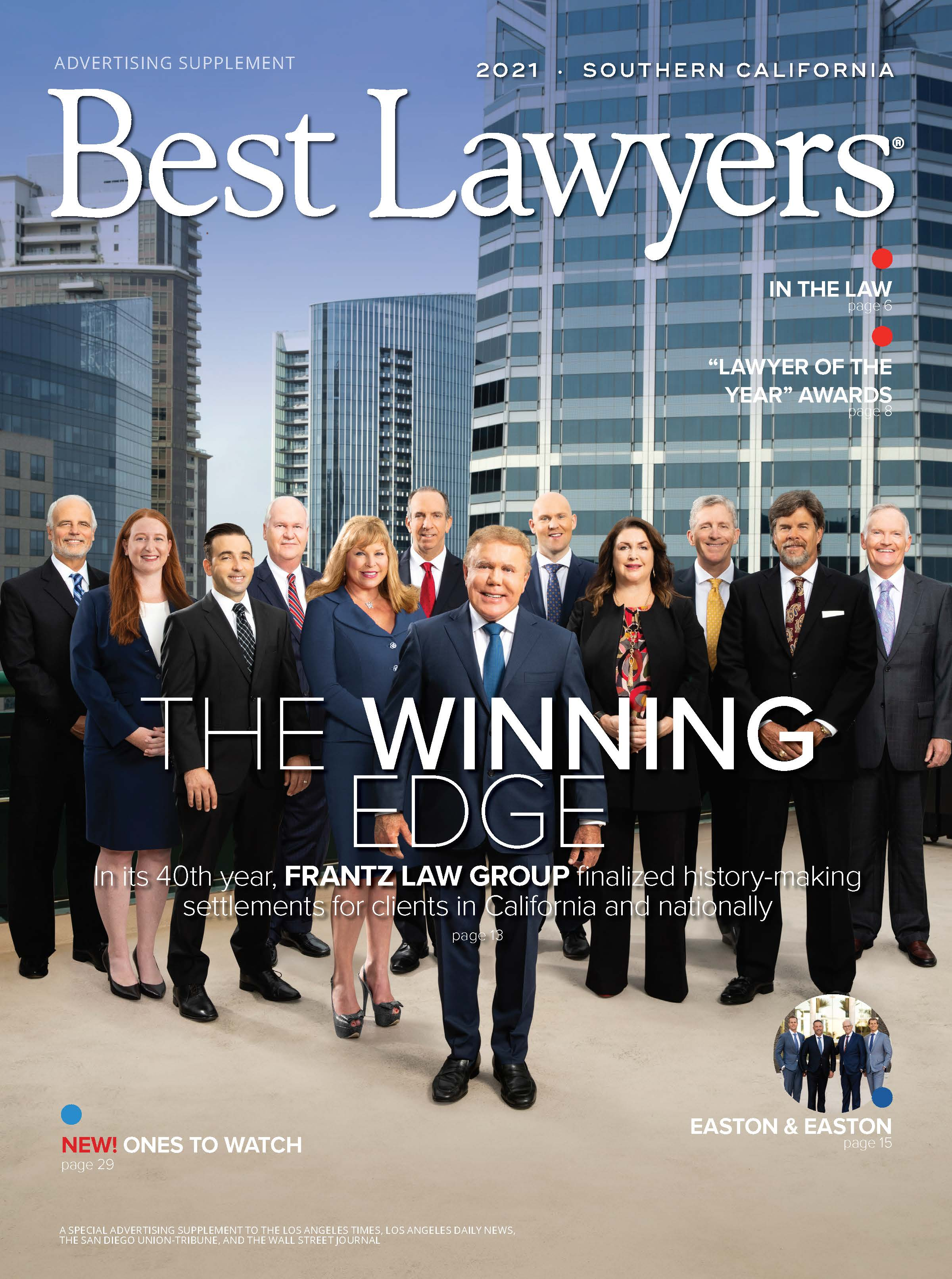 2021 Southern California's Best Lawyers cover