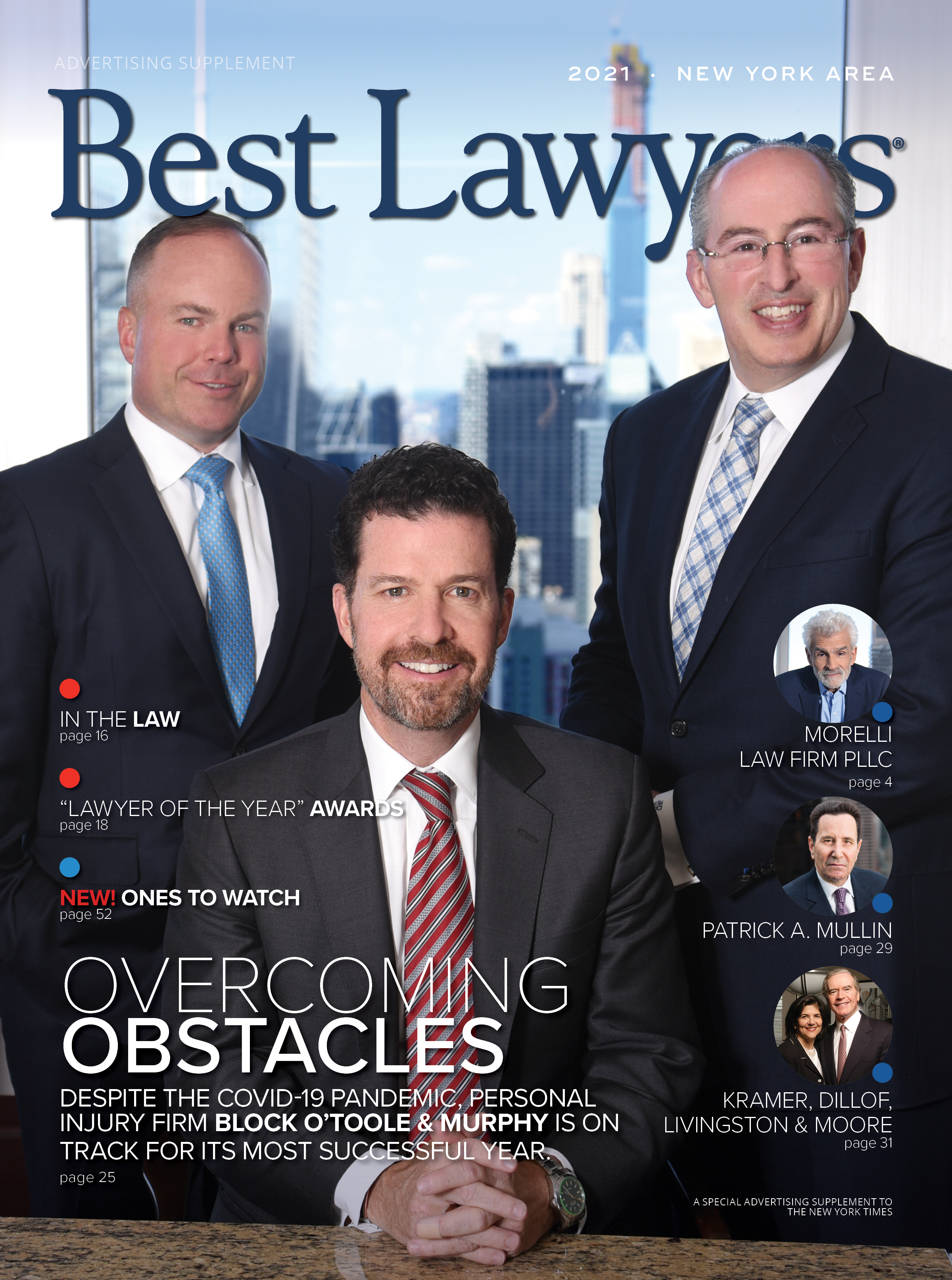 2021 New York Area's Best Lawyers cover