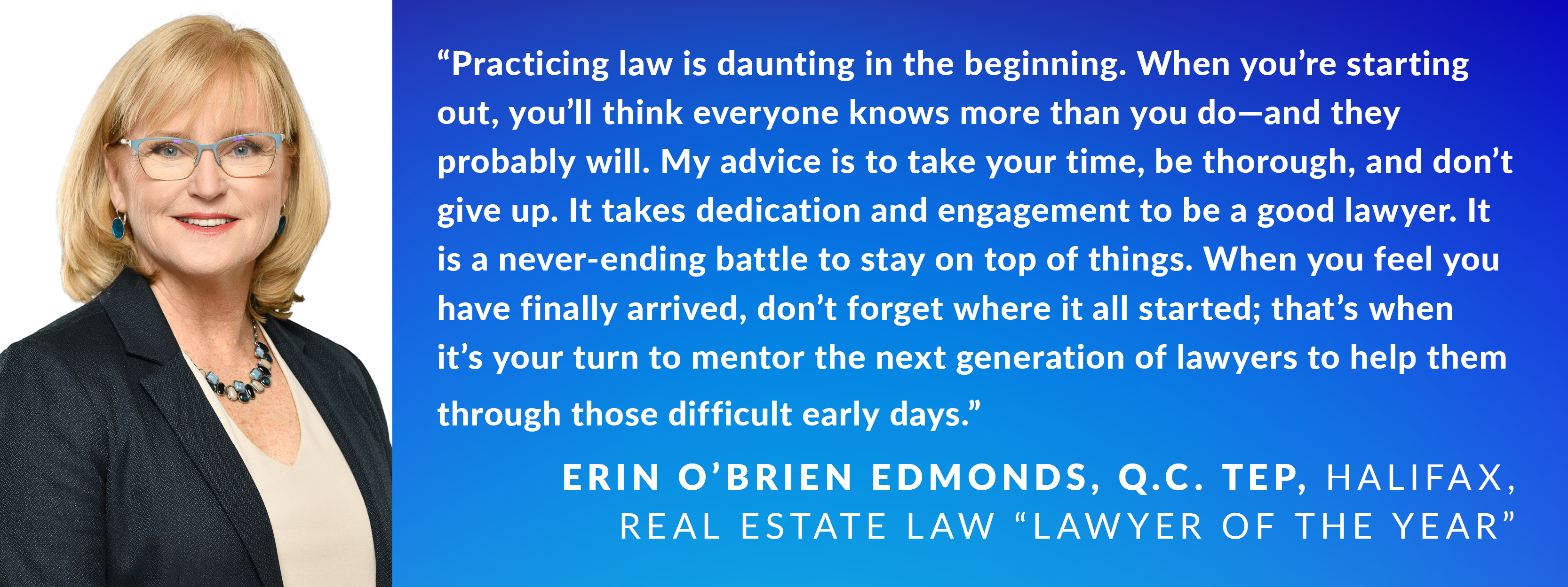Erin O'Brien Edmonds, Q.C. TEP, Halifax, Real Estate Law Lawyer of the Year
