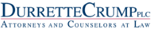 Logo for Durrette Crump P.L.C. - Commerical and Complex Litigation - Business Taxation - Labor and Employment - Health Care - Bankruptcy